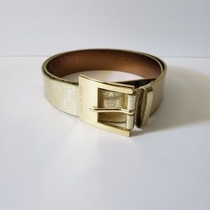 Michael Kors Gold MK Belt